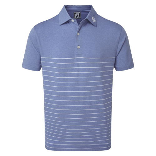FootJoy Golf Heather Lisle Engineered Pinstripe Mens Polo Shirt
