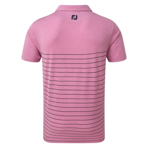 FootJoy Golf Heather Lisle Engineered Pinstripe Mens Polo Shirt reverse