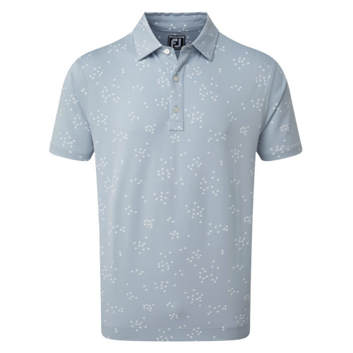 FootJoy Golf Lisle Flock of Birds Print Mens Polo Shirt