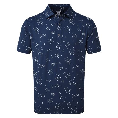 FootJoy Golf Lisle Flock of Birds Print Mens Polo Shirt