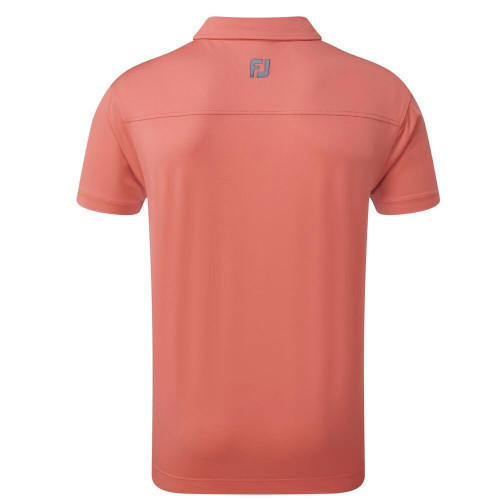 FootJoy Golf Lisle Solid with Contrast Trim Mens Polo Shirt reverse