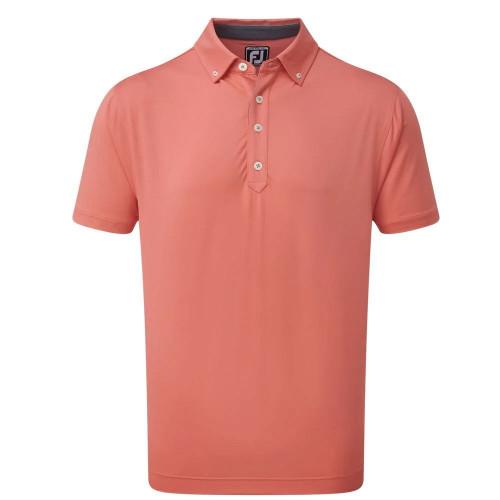 FootJoy Golf Lisle Solid with Contrast Trim Mens Polo Shirt
