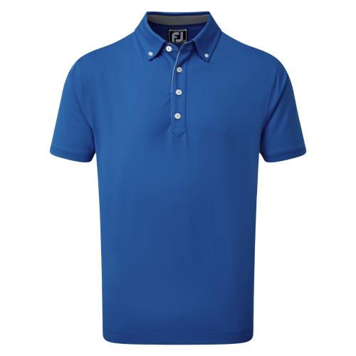 FootJoy Golf Lisle Solid with Contrast Trim Mens Polo Shirt