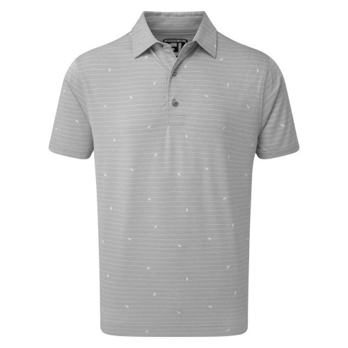 FootJoy Golf Lisle Leaf Print Mens Polo Shirt