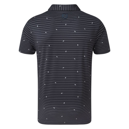 FootJoy Golf Lisle Leaf Print Mens Polo Shirt reverse