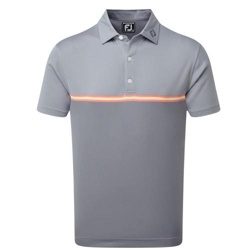 FootJoy Golf Jacquard Top Colour Block Mens Polo Shirt