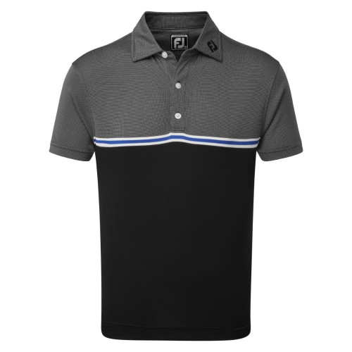 FootJoy Golf Jacquard Top Colour Block Mens Polo Shirt