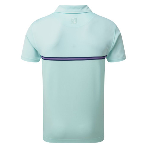 FootJoy Golf Jacquard Top Colour Block Mens Polo Shirt reverse