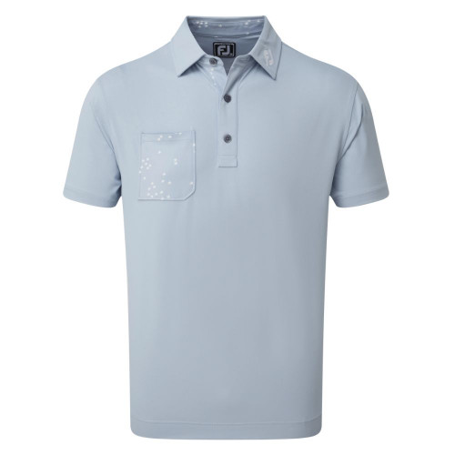 FootJoy Golf Flock of Bird Print Trim Mens Polo Shirt