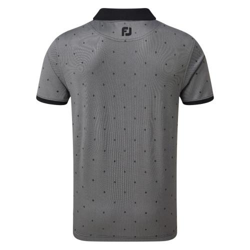 FootJoy Golf Birdseye Argyle Print with Knit Collar Polo Shirt reverse