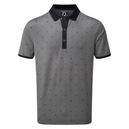 FootJoy Golf Birdseye Argyle Print with Knit Collar Polo Shirt