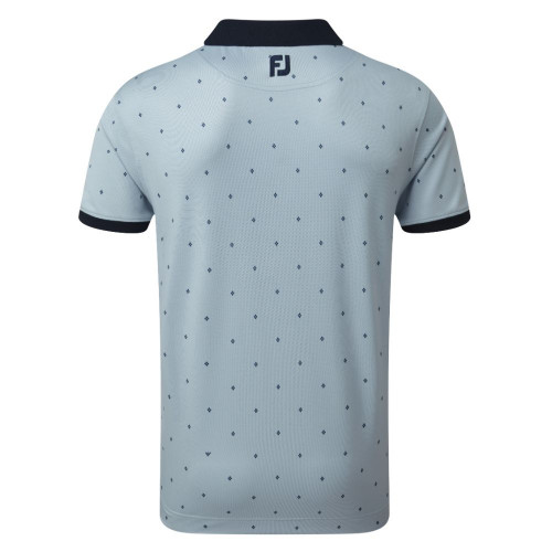 FootJoy Golf Birdseye Argyle Print with Knit Collar Polo Shirt reverse