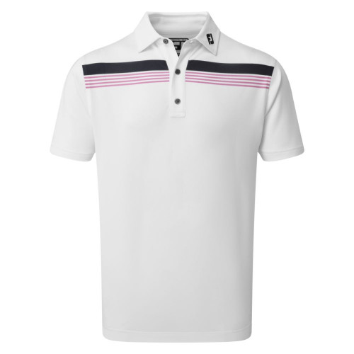 FootJoy Golf Stretch Pique Chestband Mens Polo Shirt
