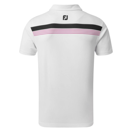 FootJoy Golf Stretch Pique Chestband Mens Polo Shirt reverse