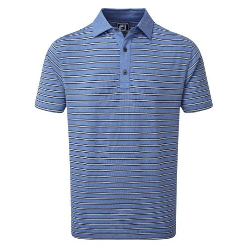 FootJoy Golf Heather Lisle with Stripes Mens Polo Shirt