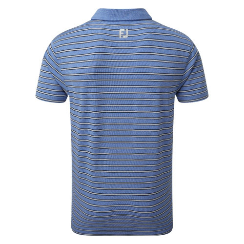FootJoy Golf Heather Lisle with Stripes Mens Polo Shirt reverse