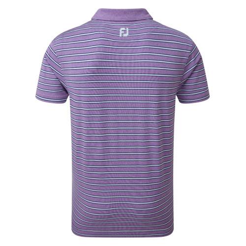 FootJoy Golf Heather Lisle with Stripes Mens Polo Shirt reverse