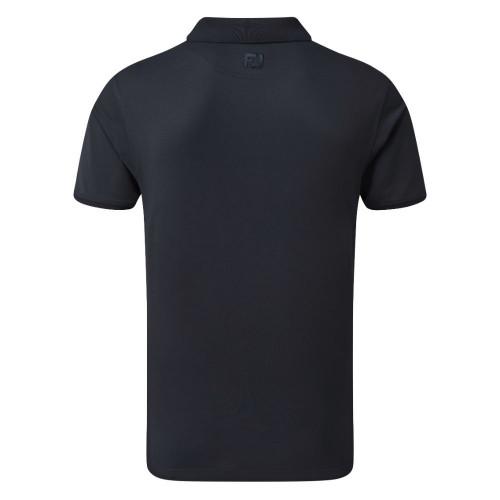 FootJoy Golf Floral Print Trim Mens Polo Shirt reverse