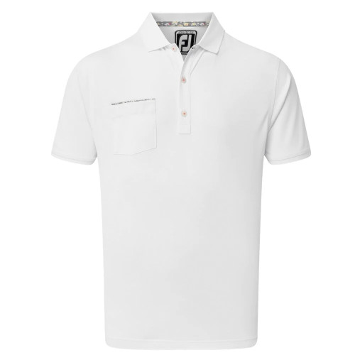FootJoy Golf Floral Print Trim Mens Polo Shirt