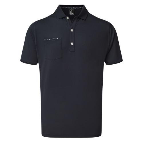 FootJoy Golf Floral Print Trim Mens Polo Shirt