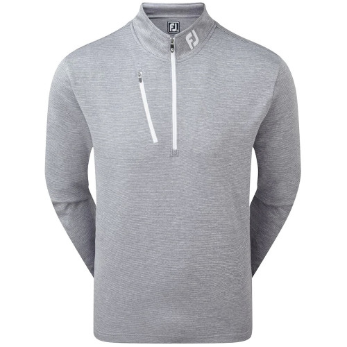 FootJoy Golf Heather Pinstripe Chill-Out Mens Pullover