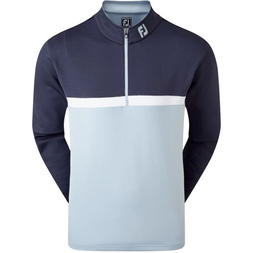 FootJoy Golf Colour Blocked Chill-Out Mens Pullover (Navy/Blue/White)