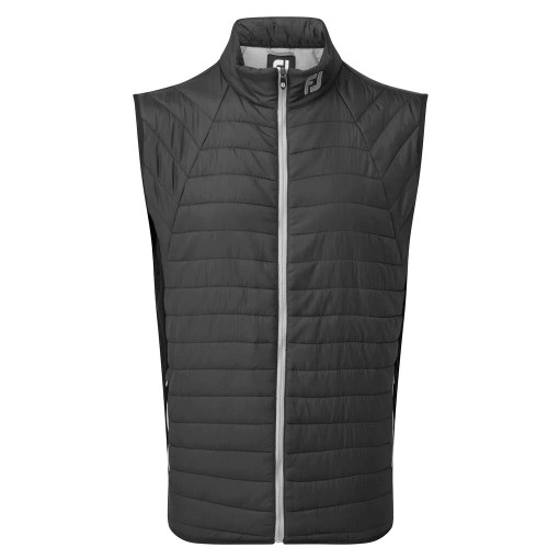 FootJoy Golf Thermal Quilted Vest Mens Gilet (Black/Grey)