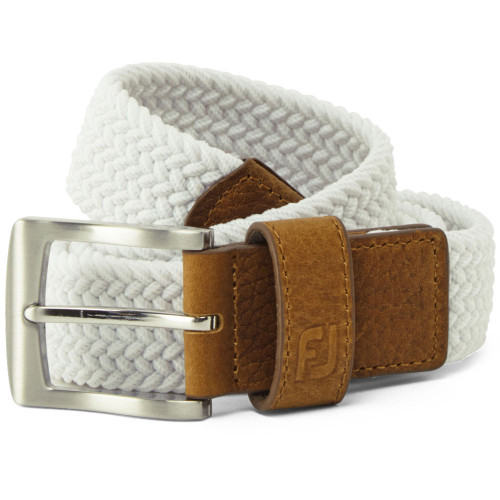 FootJoy Golf FJ Braided Belt (White)
