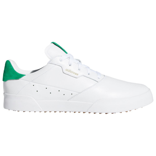 adidas Adicross Retro Mens Spikeless Golf Shoes (White/Green/Gum)