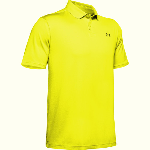 Under Armour Performance 2.0 Mens Golf Polo Shirt (Yellow)