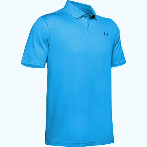 Under Armour Performance 2.0 Mens Golf Polo Shirt  - Electric Blue