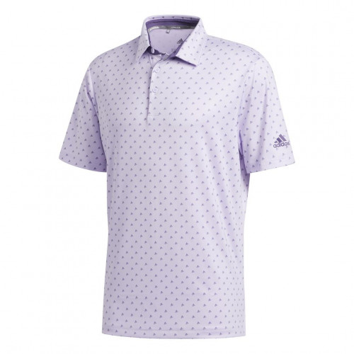 adidas Golf Ultimate365 Badge of Sport Mens Polo Shirt (Purple Tint/Grey Three)