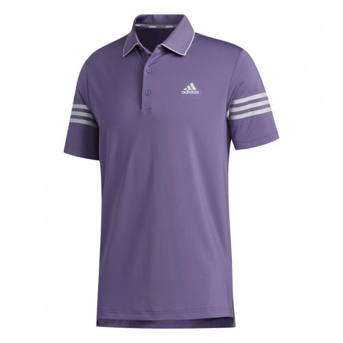 adidas Golf Ultimate365 Blocked Mens Polo Shirt (Tech Purple/Grey Two)