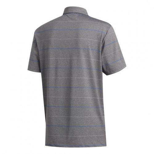 adidas Golf Ultimate Heather Stripe Mens Polo Shirt reverse