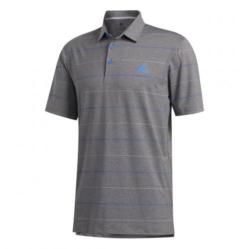 adidas Golf Ultimate Heather Stripe Mens Polo Shirt