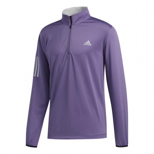 adidas Golf 3-Stripes Mens Midlayer (Tech Purple/Grey Two)