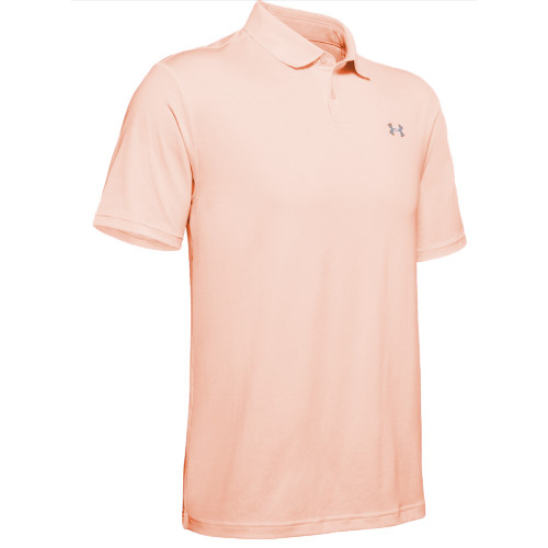 Under Armour Performance 2.0 Mens Golf Polo Shirt (Peach Frost)