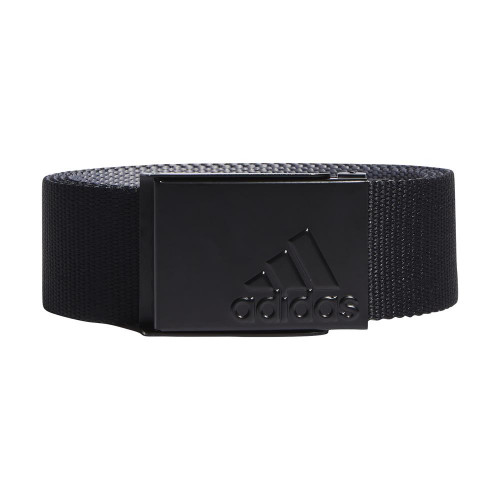 adidas Golf Mens Reversible Webbing Belt (Black/Grey)