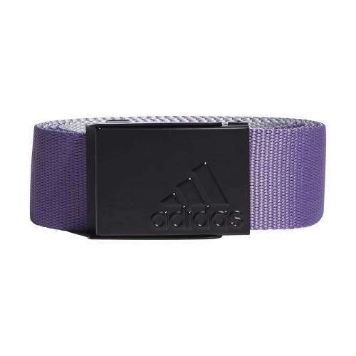 adidas Golf Mens Reversible Webbing Belt (Tech Purple/Grey)