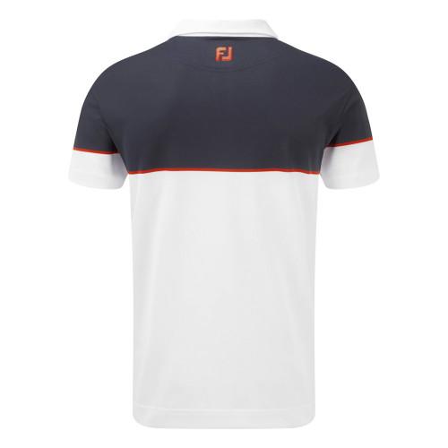 FootJoy Mens Colour Block Stretch Pique Golf Polo Shirt reverse