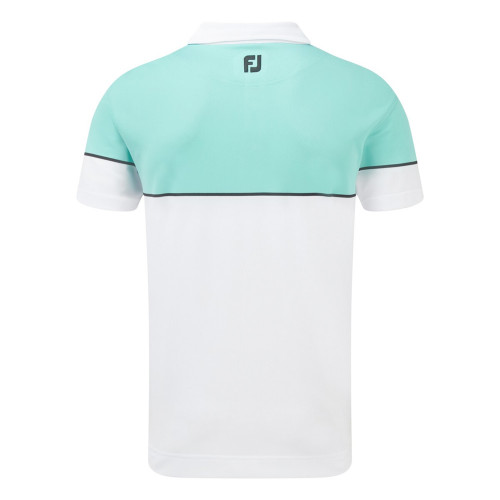FootJoy Mens Colour Block Stretch Pique Golf Polo Shirt reverse