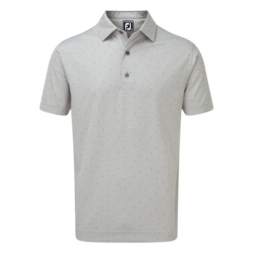 FootJoy Mens FJ Print Golf Polo Shirt