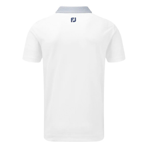 FootJoy Mens Smooth Pique Woven Button Collar Golf Polo Shirt reverse