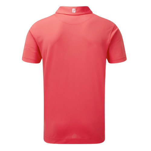 FootJoy Mens Smooth Pique Golf Polo Shirt with Collar Logo (Geranium) reverse