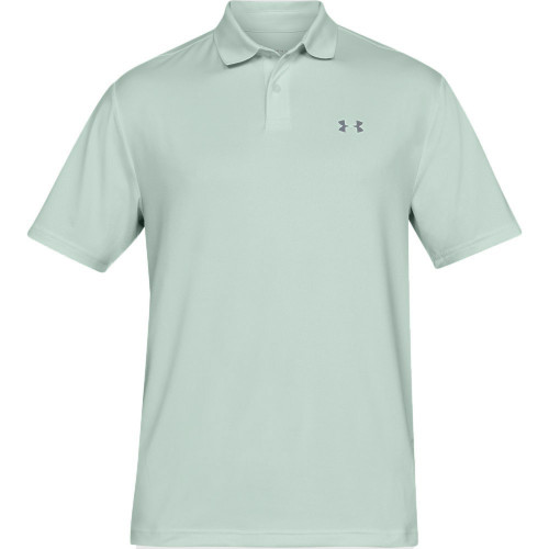 Under Armour Performance 2.0 Mens Golf Polo Shirt (Carolina Blue)