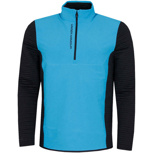 Under Armour Mens UA Storm Evolution Daytona 1/2 Zip Golf Sweater (Electric Blue)