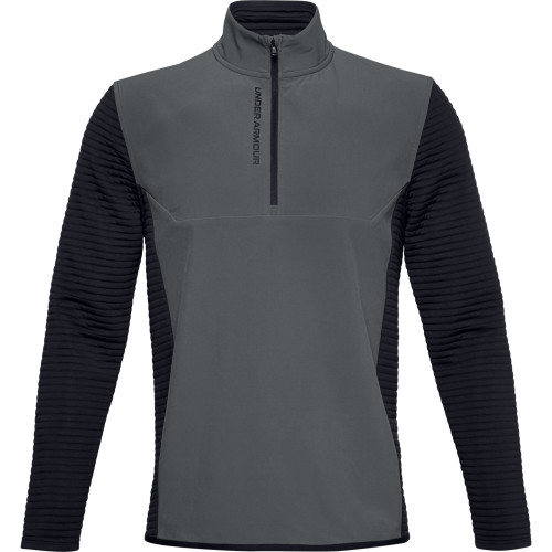Under Armour Mens UA Storm Evolution Daytona 1/2 Zip Golf Sweater (Pitch Grey)