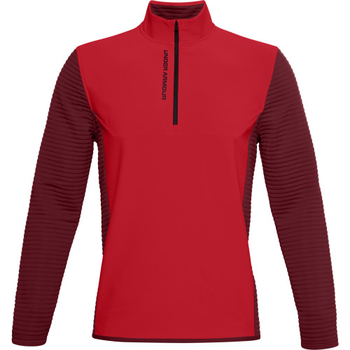 Under Armour Mens UA Storm Evolution Daytona 1/2 Zip Golf Sweater (Versa Red)