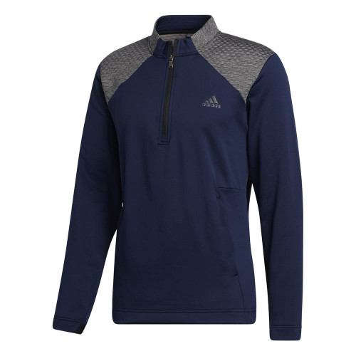 adidas Golf Mens COLD.RDY Quarter Zip Pullover (Collegiate Navy)