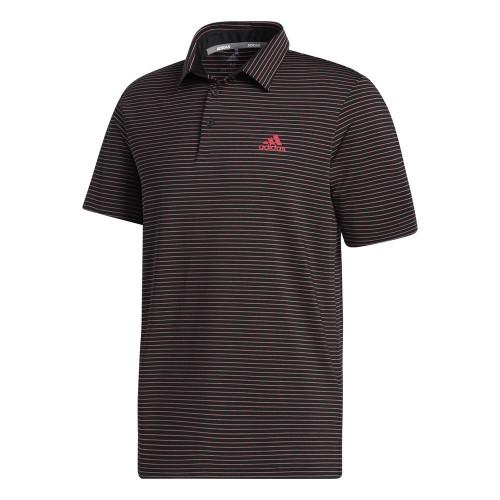 adidas Golf Mens Ultimate365 Space Dye Stripe Polo Shirt